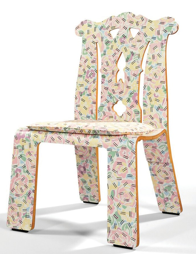 The flowers on this 1985 plywood u201cGrandmotheru0027s Tableclothu201d Chippendale chair by Robert Venturi were  sc 1 st  Bonita Springs Florida Weekly & Venturi chair series based on eight design periods | Bonita Spring ...