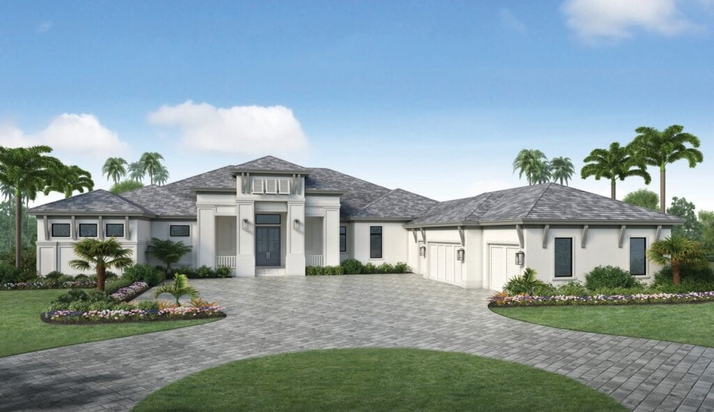 A rendering of 18290 Blue Eye Loop in WildBlue, a 4,720 square foot under air residence currently under construction by Stock Custom Homes. COURTESY PHOTO