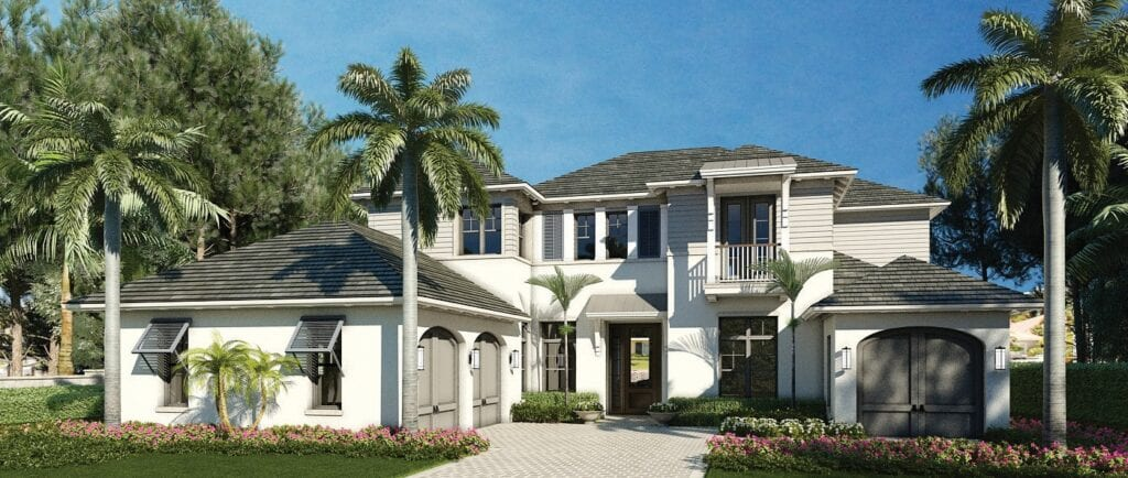 The Edgewater at 5,223 square feet is The Enclave of Distinction's largest custom home floor plan.